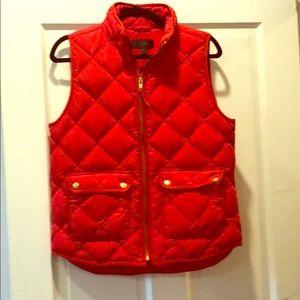 J.Crew Red Puffer Vest